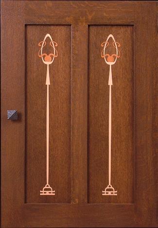 Inlays inlay marquetry ellis stickley chair slat for 1 panel inlaid oak veneer door
