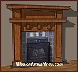 Mantels Fireplaces Mission Arts and Crafts Craftsman style
