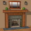 Lakeland Mission Fireplace Mantel MAS002FP