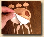Mission, Arts and Crafts, Custom Inlays, Inlaid furniture parts, Marquetry, Stickley style, Ellis Style Inlays, Inlaid veneers