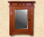 Mission, Arts and Crafts, Custom Recessed Medicine Cabinets, Stickley style Cabinetry