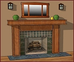 Mission, Arts and Crafts, Custom Fireplace mantels, Stickley, Craftsman Mantels