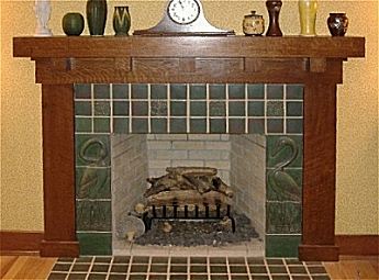 Arts and Crafts Craftsman Stickley Mantels and Fireplaces - Missionfurnishings.com