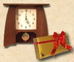 Mission, Arts and Crafts clocks, gifts. Stickley, Craftsman style clocks