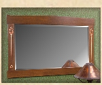Mission, Arts and Crafts, Custom Over-mantel mirrors, Stickley style Wall Mirrors