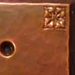 Copper Switch or Outlet Plate with Flower Detail VMSPlateFlower